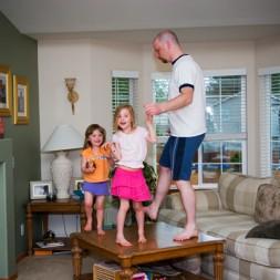 fun family dancing