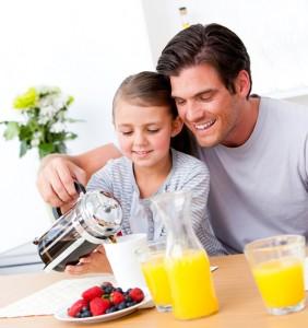 dad daughter breakfast date