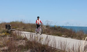 Zion bike trail Lake Michigan beach