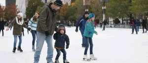 Chicago's Millennium Park skating