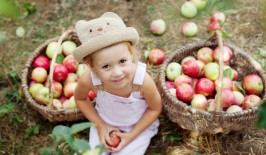 Apple picking girl