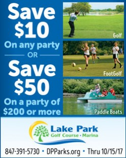 Lake Park Golf Course Party coupon